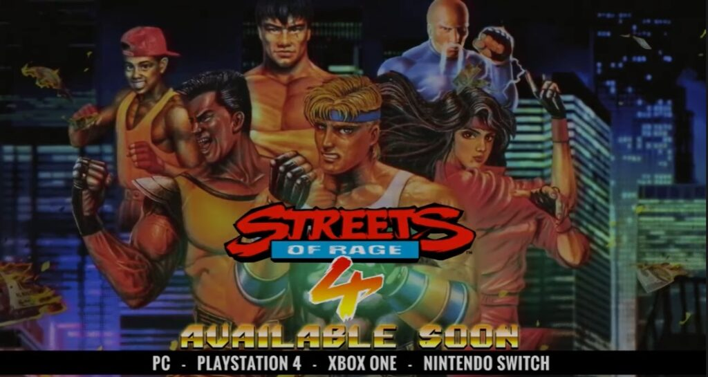 Streets of Rage 4 Retro Trailer Shows Best of the Series